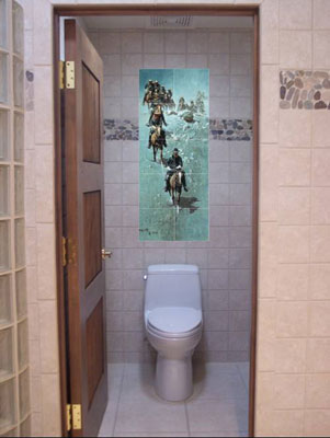 bathroom mural