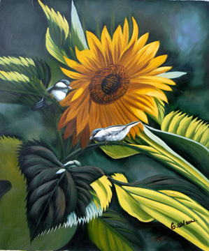 Birds with Sunflower
