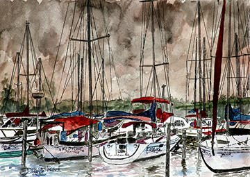 painting-of-sail-boats